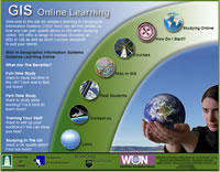 Online GIS course - Click to visit